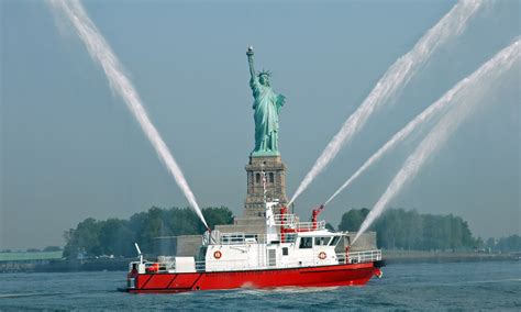fire boat fighting fire heavy duty custom commercial manufacturer of fire boats