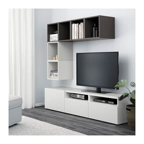 besta eket best 197 eket mueble tv con almacenaje armario blanco