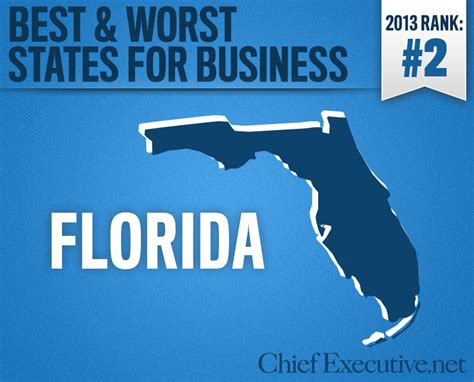 Top Mba In Florida by Florida Is The 2nd Best State For Business 2013