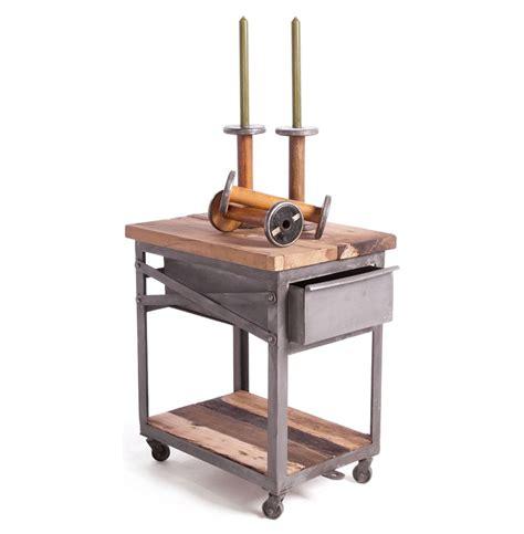 industrial bedside table reclaimed wood metal industrial loft bedside table kathy