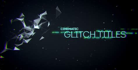 Cinematic Glitch Titles After Effects Template Videohive 9452710 After Effects Project Files Cinematic Title After Effects Template
