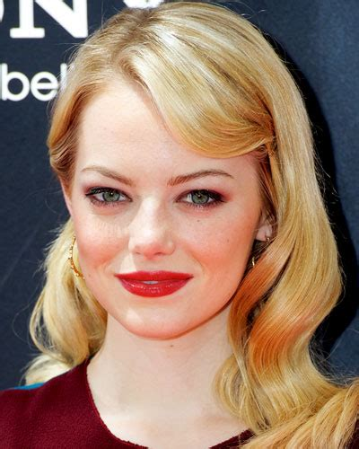 emma stone face shape long oval face long find the perfect cut for your face