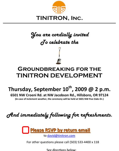 groundbreaking invitation template groundbreaking invitation invitations ideas
