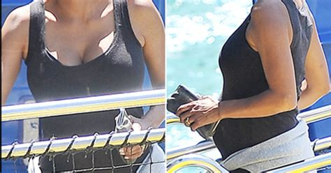 Halle Berry Sporting Baby Bump On Instyle Magazine by Halle Berry Nahla Visit Disneyland Shows