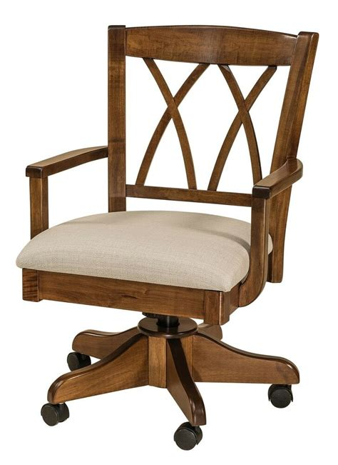 Amish Desk Chair amish upholstered arm office desk chair solid wood