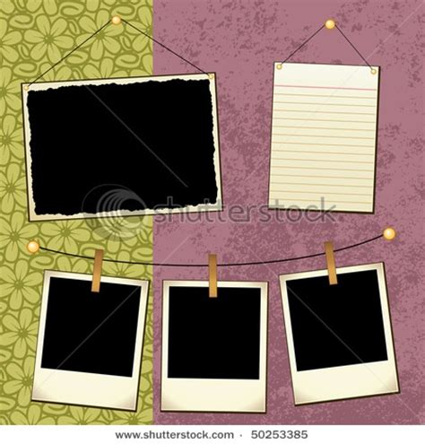 scrap book template polaroids scrapbooking ideas