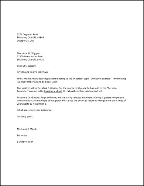 business letter format high school students sle business letter for high school students sle