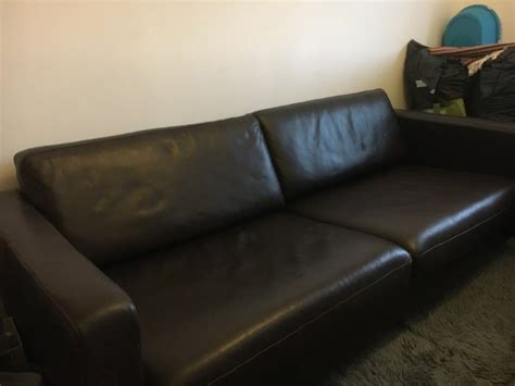 Karlstad Leather Sofa Ikea Karlstad Leather Sofa 3 Seat Sofa For Sale In Loughrea Galway From Poontuft