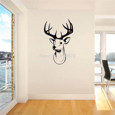 stags head home decor home decor wall sticker stags head deer trophy antlers