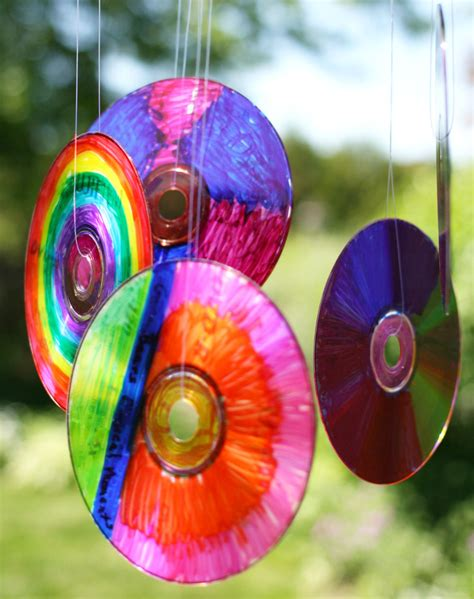 colorful sun creative corner diy cd craft ideas decozilla