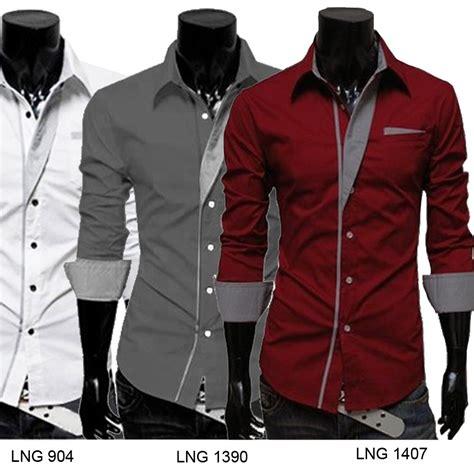 Best Quality Kgk Kemeja Pria Lengan Panjang Batik Songket Motiv Hujan kemeja fashion pria korean styles slim fit banyak