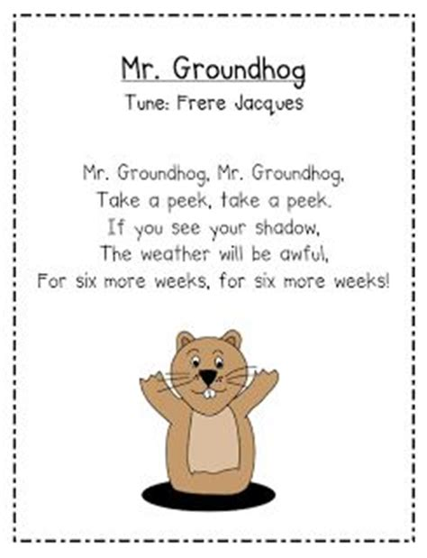 groundhog day lyrics meaning mrs albanese s kindergarten class happy groundhog day