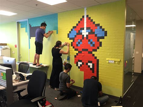 Da Office La by Worker Uses 8 024 Post It Notes To Turn Boring Office