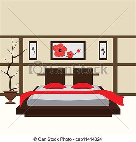 Vector Illustration Of Interior Bedroom Vector