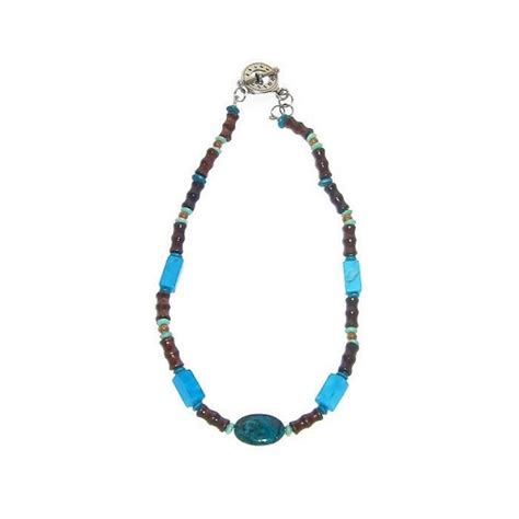 beaded necklaces mens turquoise and brown s beaded necklace