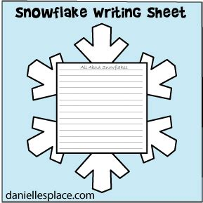 snowflake writing template snowflake crafts for