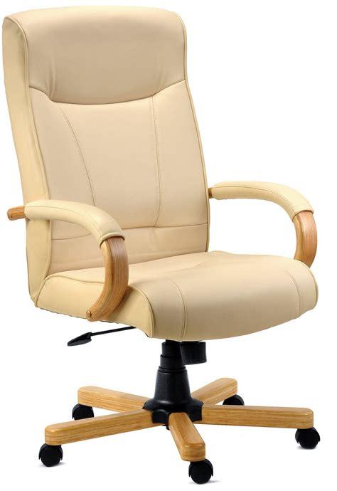 Maestro Pedestals Knightsbridge Executive Cream Leather Chair