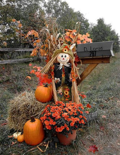 fall haystack decorations mailbox curb appeal for autumn and fall mailbox