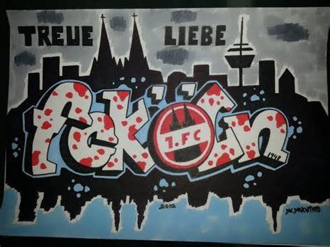 drawing graffiti letters  football club cologne
