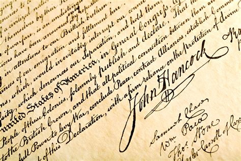 benjamin franklin signature declaration of independence what leaders and the declaration signers in common