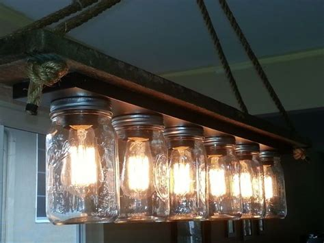 Shelving Unit Decorating Ideas Mason Jar 6 Light Edison Hanging Lamp New Decorating Ideas