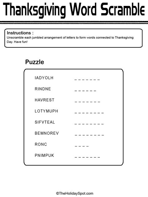 ot scrabble word word scramble worksheets with answers thanksgiving word