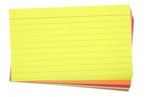 attached note card template 10 tips for using research note cards
