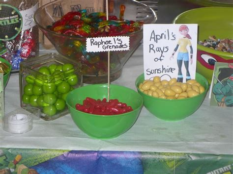 candy buffet for tmnt party teenage mutant ninja turtle