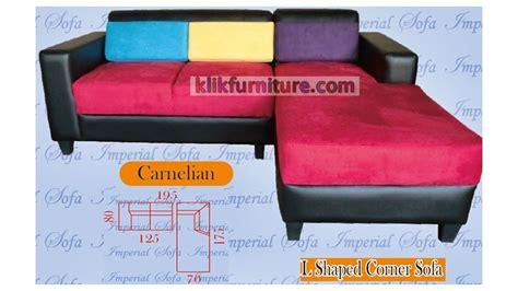 Jual Sofa Sudut Bekas jual sofa minimalis l sudut carnelian sale promo