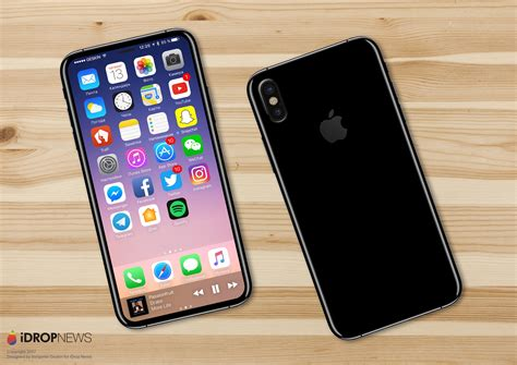 apple tests iphone 8 prototype with touch id display 4mm bezels all around