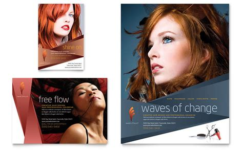 Hair Stylist & Salon Flyer & Ad Template   Word & Publisher