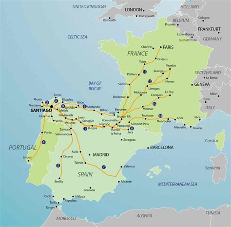 camino de santiago route map camino routes camino guidebooks to guides