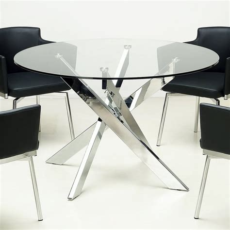 Somette Glass Top Chrome Dining Table Overstock