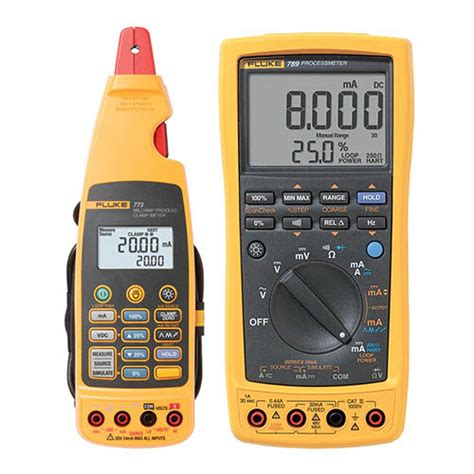 Multimeter Fluke 789 fluke 789 773 bu processmeter with hart communications and