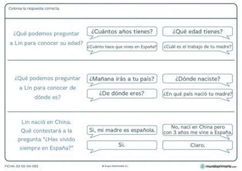 preguntas y respuestas nivel primaria ficha de respuestas y preguntas para primaria fichas de