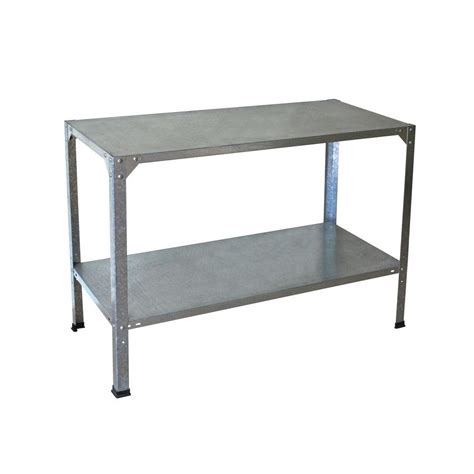 work bench metal palram 20 in x 45 in x 31 in steel work bench 701152