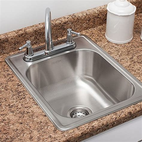 frankeusa sinks kindred fsb1722bx 8 quot stainless steel single bowl top