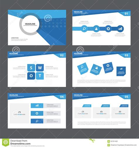 flat design keynote template blue abstract presentation template infographic elements