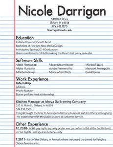 resume first draft nicole darrigan