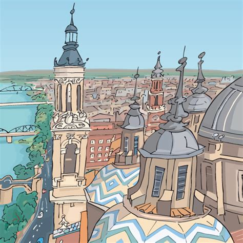cuadros zaragoza zaragoza jorge arranz dibujante cuadros de ciudades