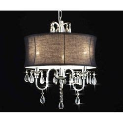 Bedroom Chandeliers Overstock Gallery 3 Light Chandelier With Large Black Shade