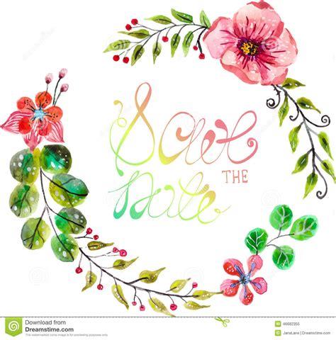 Wedges N Bunga Flower Floral 1 marco floral de la acuarela para casarse dise 241 o de la