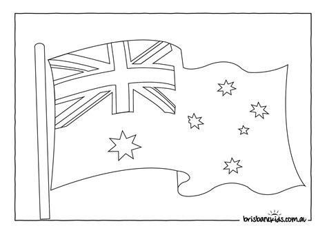 australian flag template to colour australia day colouring pages brisbane