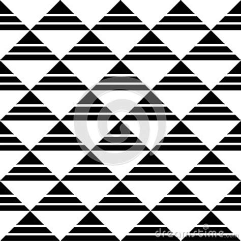 black triangle pattern vector white black striped triangles pattern stock vector image