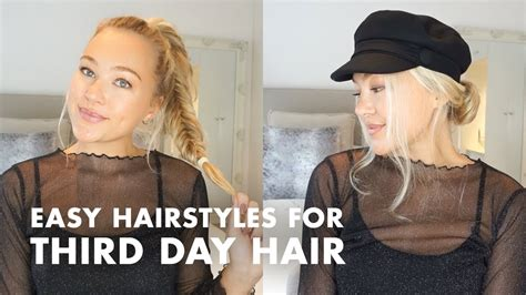 oily hair hairstyles youtube greasy hair try these easy hairstyles for third day hair