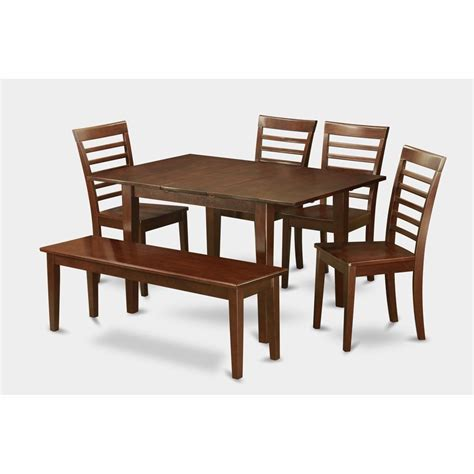 east west furniture milan rectangular table dining set with wood seat chairs common shopping