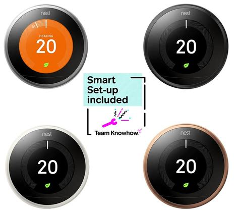 Buy KNOWHOW Nest Learning Thermostat and Installation   3rd Generation   Free Delivery   Currys