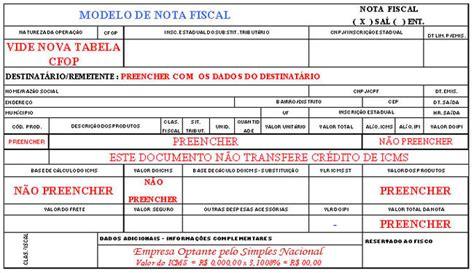 layout de nf e notas fiscais