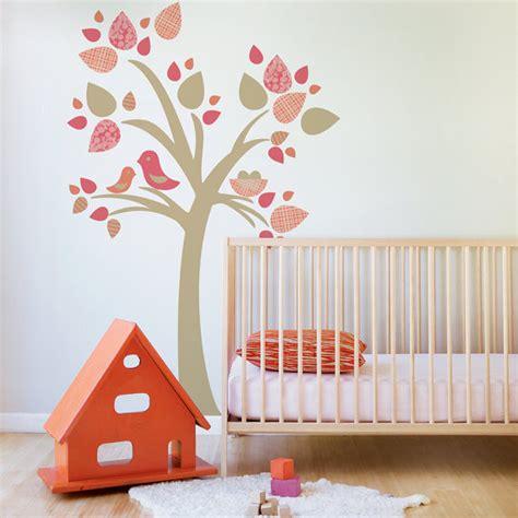 1 Tree W Birds Nest Leafy Dreams Nursery Decals Bird Wall Decals For Nursery