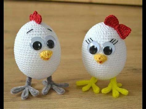 crochet huevos de gallina amigurumi huevos de pascua tejidos a crochet parte 2 de 2